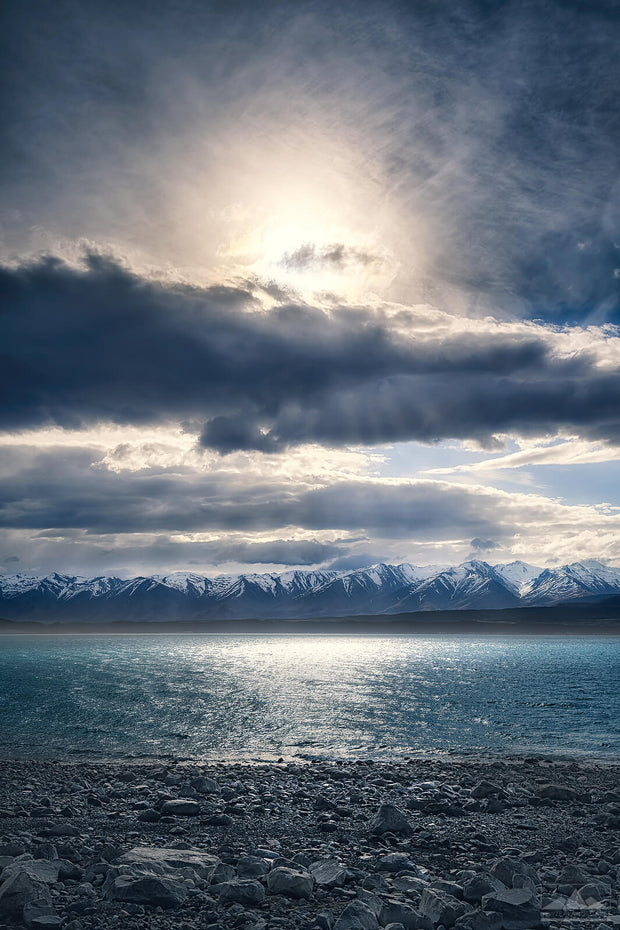 Lake Pukaki in New Zealand photo print in the afternoon sun