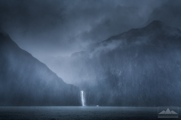 Milford Sound on canvas print or photo print by Newzealandscapes. Milford Sound in New Zealand.
