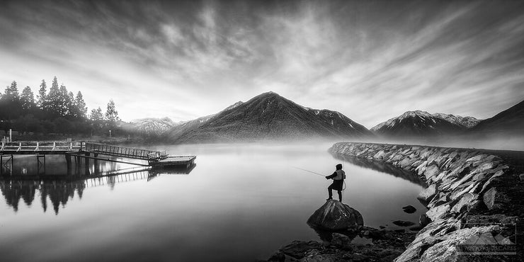 The Fisherman in Black & White