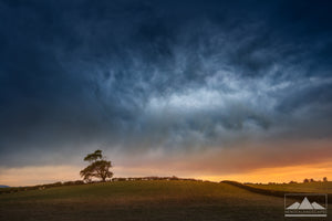 Canterbury Stormy Sky in Cust - photo print and canvas wall art of New Zealand