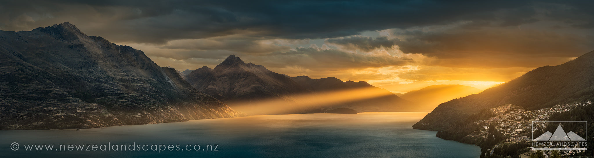Contact us for more like this. Stunning sunset photo of Queenstown and Lake Wakatipu