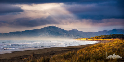 Sunbeams On Woodend Beach - Newzealandscapes photo canvas prints New Zealand