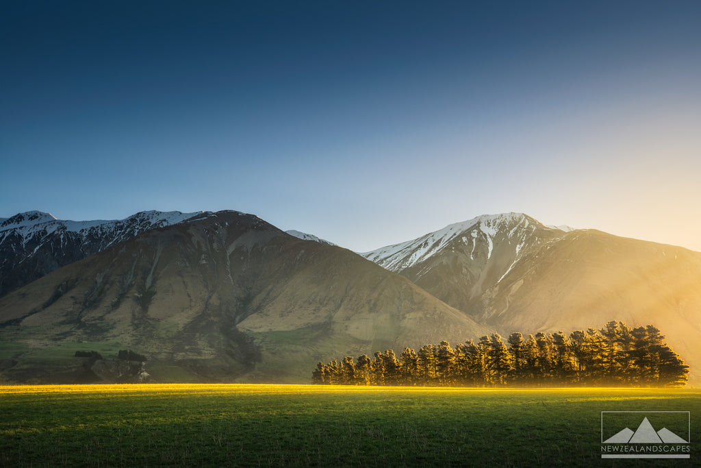 Soft sunlight across the Canterbury Plains photograph for sale