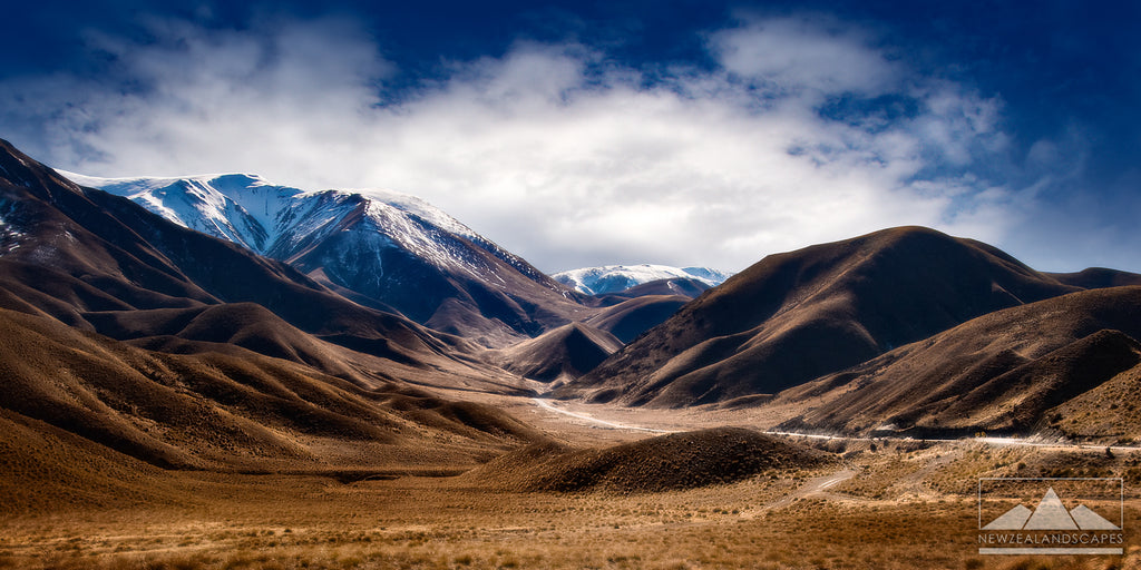 The Lindis Pass - Newzealandscapes photo canvas prints New Zealand