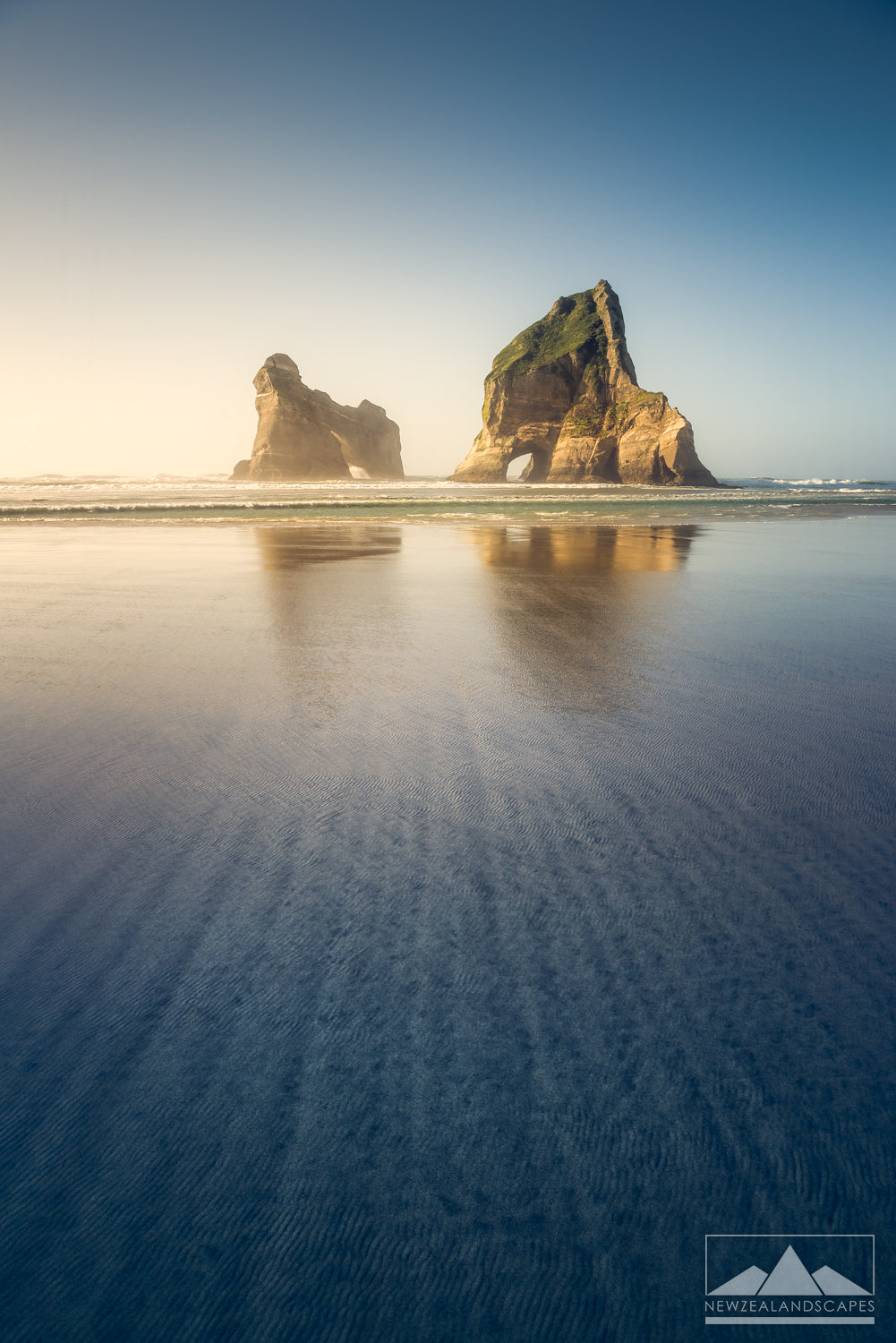 Landscape photo at Wharariki Beach in Nelson Tasman