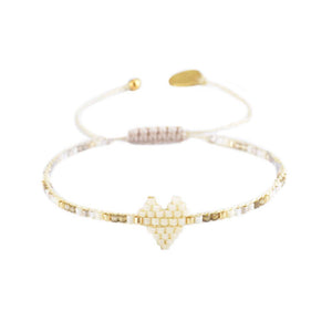 Mishky Heartsy Row Bracelet - Cream