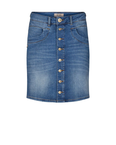 Mos Mosh Vicky Decor Skirt - Blue Denim