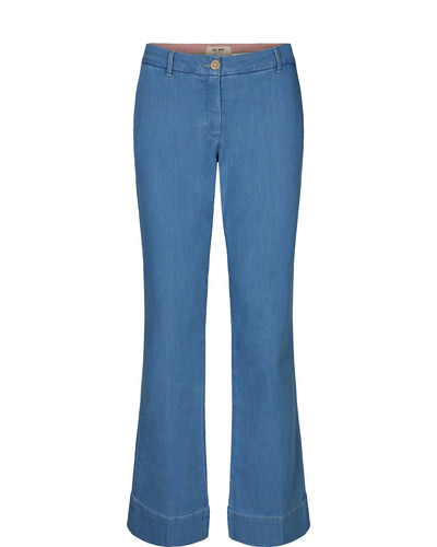 Mos Mosh Farrah Sky Jeans - Light Blue Denim