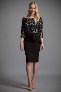 Eden Row Manhattan Black Lace Dress