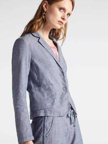 Sandwich Denim Blazer - Blue Denim