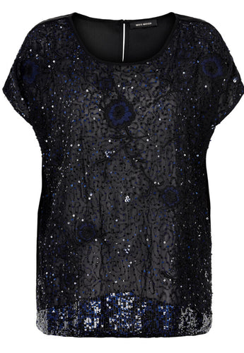 Mos Mosh Shine Sequins Top - Navy