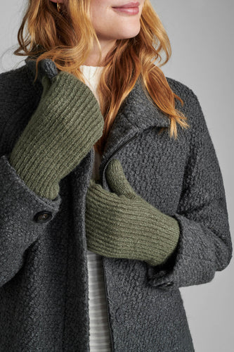 Numph Numarcellina Mittens - Agave Green