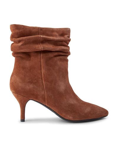 Shoe the Bear Agnete Slouch Suede Bootie - Brown