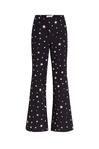 Fabienne Chapot Puck Trousers - Black/Warm White Starry Night