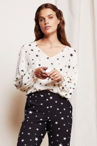 Fabienne Chapot Valerie Top - Warm White/Black Starry Night White