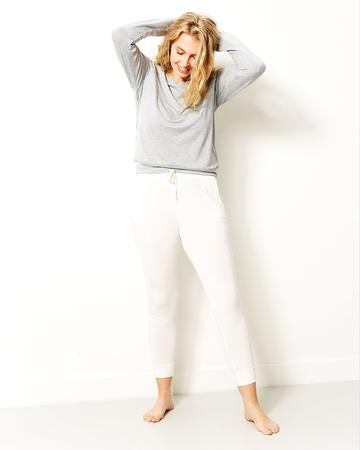 Stripe & Stare Essential Lounge Pant - Cloud