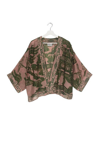 One Hundred Stars Kimono -Giant Willow Green