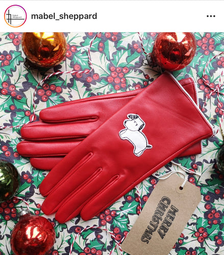 Mabel Sheppard Leather Gloves - Red Dog