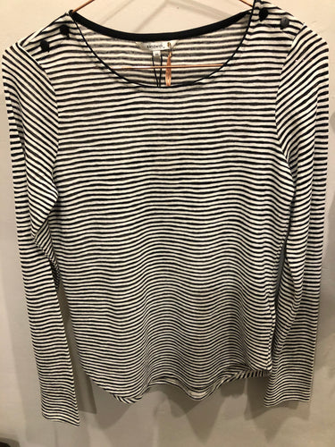 Sandwich Long Sleeve Tee Shirt - Black stripe