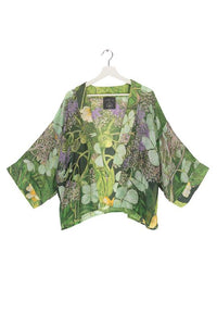 One Hundred Stars Marianne North Hydrangea Kimono - Lime Green