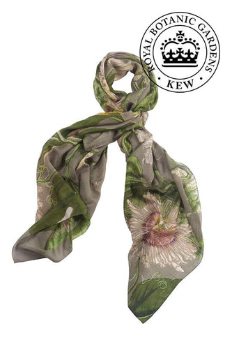 One Hundred Stars Scarf - Kew Passion Flower Stone