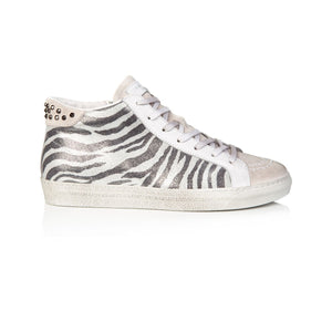 Air & Grace Alto - Zebra Studded High Top Trainer