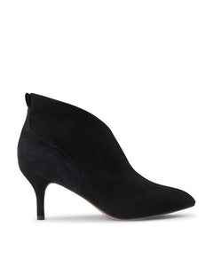Shoe the Bear Valentine Low Cut Bootie - Black Suede