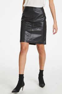 Soaked in Luxury Folly Skirt - Black Leather