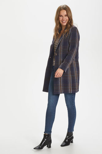 Sant Tropez Celina Coat - Deep Blue