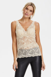 Saint Tropez Lace Cami Top - Doeskin