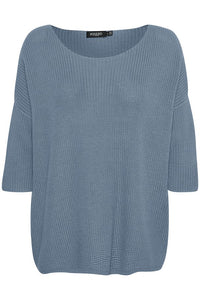 Soaked in Luxury Tuesday Cotton Jumper - Flint Stone