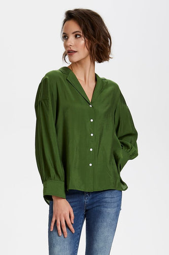Soaked in Luxury Perama Blouse - Garden Green