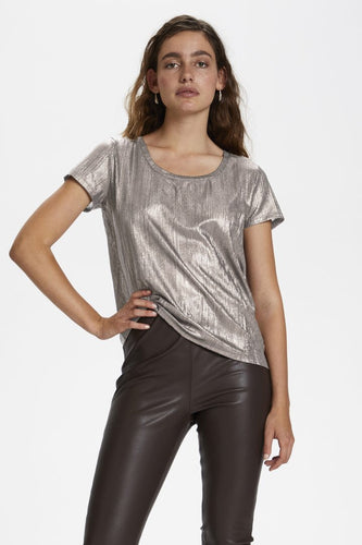 Soaked in Luxury Mieko T Shirt - Silver