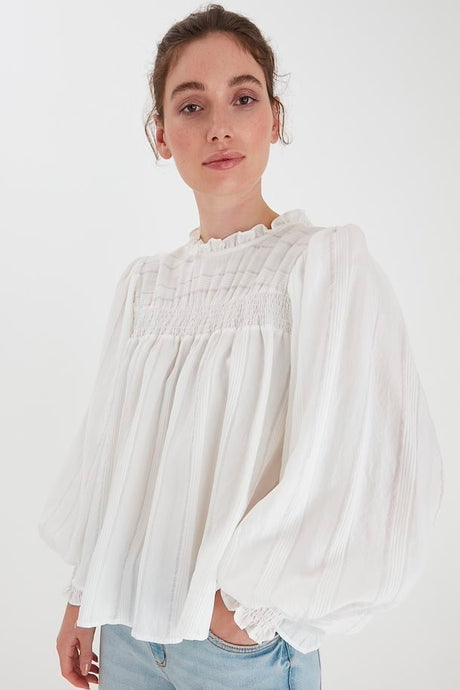 B Young Immy Blouse - Off White