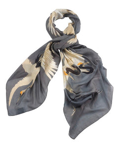 One Hundred Stars Scarf - Slate Grey Stork