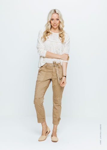 Red Button Debby Trousers - Caramel