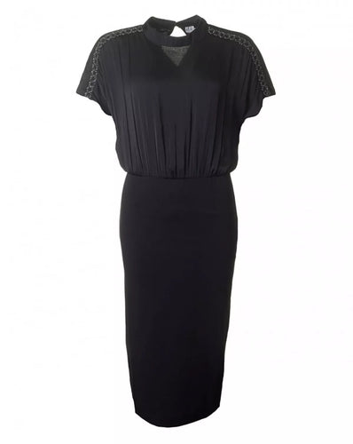 Saint Tropez Blouse Pencil Dress - Black