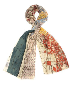 One Hundred Stars Scarf - Barcelona Map