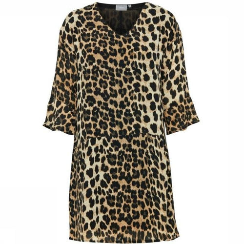 B Young Hemiso Dress - Leopard Print