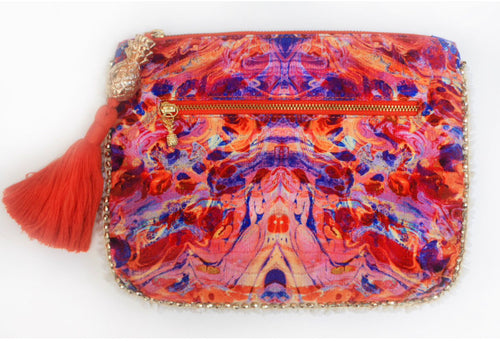 Sophia Alexia Clutch Bag - Pink Fire