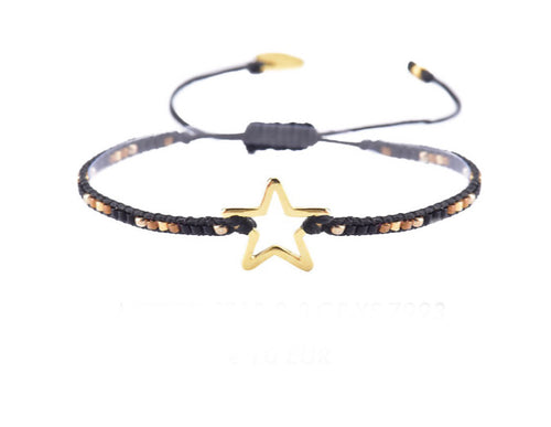 Mishky Melted Star Bracelet - Gold