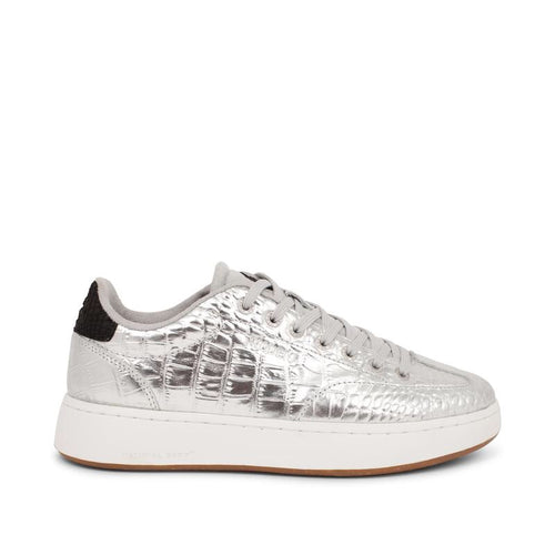 Woden Pernille Croco Sneakers - Silver
