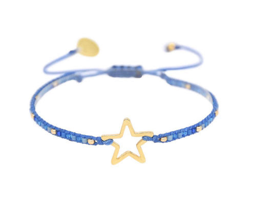 Mishky Melted Star Bracelet - Blue