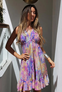 Sophia Alexia Mini Ibiza Dress - Desert Breeze