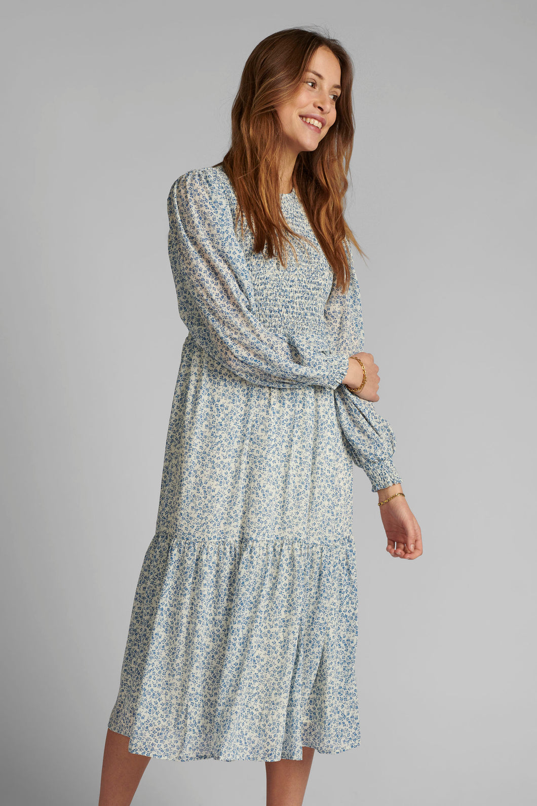 Numph Nucaltum Dress - Wedgewood
