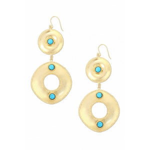 Ashiana Ocean Whirlpool Earrings - Turquoise