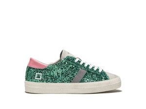 D.A.T.E Hill Low Glitter Trainers - Mint