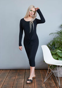 Postcard From Brighton Merci Midi Dress - Black