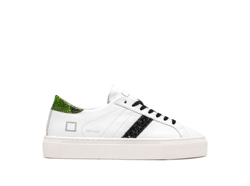 D.A.T.E Vertigo Calf - White Green