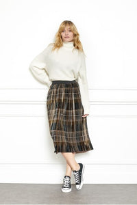 MKT Studio Jevina Pleated Skirt - Black